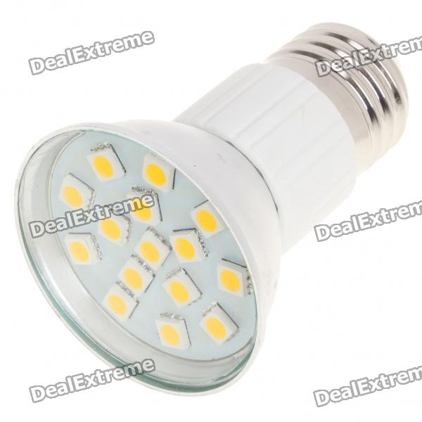 E27 3W 3200K 240-Lumen 15-5050 SMD LED Warm White Light Bulb (AC 85~265V) r7s 15w 5050 smd led white light spotlight project lamp ac 85 265v