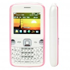 "L223B 2.0"" LCD Dual SIM Dual Network Standby Quadband GSM Qwerty TV Cell Phone w/ FM - White + Pink"