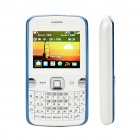 "L223B 2,0 ""-LCD Dual SIM Dual Network Standby Quadband GSM Qwerty TV Cell Phone w / FM - White + Blue"