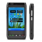"FN8 3.3"" Touch Screen Quad SIM Quad Network Standby Quadband GSM TV Cell Phone w/ Wi-Fi/GPS - Grey"