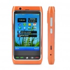 "FN8 3.3"" Touch Screen Quad SIM Quad Network Standby Quadband GSM TV Cell Phone w/ Wi-Fi/GPS - Orange"