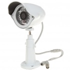 "1/3"" CMOS Waterproof Surveillance Security Camera w/ 8-IR LED Night Vision - White (DC 12V)"