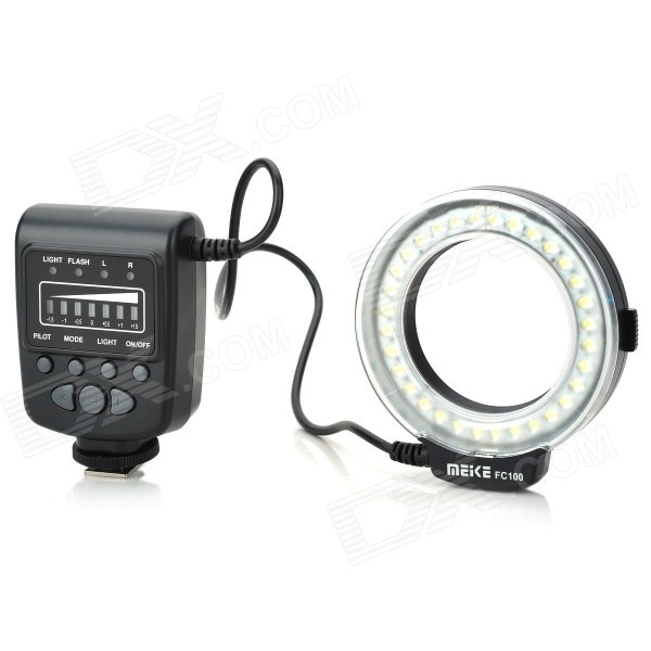 MEIKE 5500K 32-LED White Macro Ring Flash Light for Canon DSLR (4 x AA)