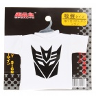 Cute Mini Decorative Transformer T-Shirt w/ Suction Cup - Decepticon (Random Color)