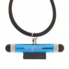 Capacitive Screen Stylus + Anti-Dust Plug w/ Neck Strap for iPhone 4/iPad/iPod Touch 4 - Blue