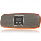 Stylish 1.1&quot; LCD Portable USB Rechargeable MP3 Player Speaker w/ FM/SD/Alarm Clock - Orange