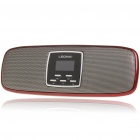 "Stylish 1.1"" LCD Portable USB Rechargeable MP3 Player Speaker w/ FM/SD/Alarm Clock - Dark Red"