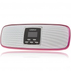 "Stylish 1.1"" LCD Portable USB Rechargeable MP3 Player Speaker w/ FM/SD/Alarm Clock - Deep Pink"