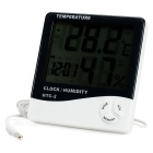 "3.9"" LCD Indoor/Outdoor Digital Thermometer/Humidity Meter w/ Clock (1 x AAA)"