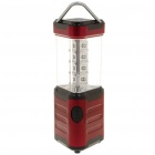 12-LED White Light Camping Lamp with Compass/Hanging Hook - Dark Red (4 x AA)