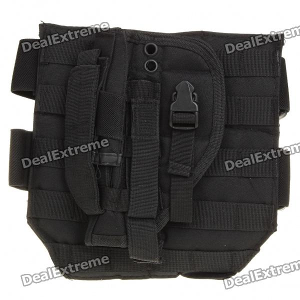 Oxford Fabric Gun Holster w/ Waist Pad for War Game - Black