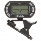 "1,5 ""LCD Backlit LCD Clip-On Tuner Chromatic Metronome (1 x CR2032)"