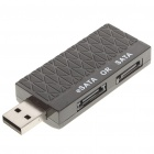 USB 2.0 to eSATA + SATA Bridge Adapter Dongle