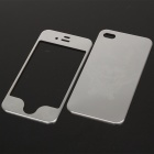 Stylish Cartoon Pattern Metal Sticker Cover Skin Protector for Iphone 4 - Silver