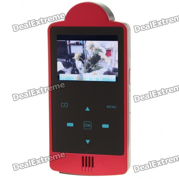 "Dola-DHD001 2.0"" TFT 5.0MP CMOS HD DV Camcorder with HDMI/TF Slot - Red"