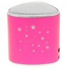 Mini Star Pattern MP3 Music Speaker Player with Blue LED/FM/USB/TF - Deep Pink