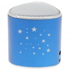 Mini Star Pattern MP3 Music Speaker Player with Blue LED/FM/USB/TF - Blue