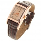 Stylish Leather + Metal Water Resistant Quartz Wrist Watch (1x626)