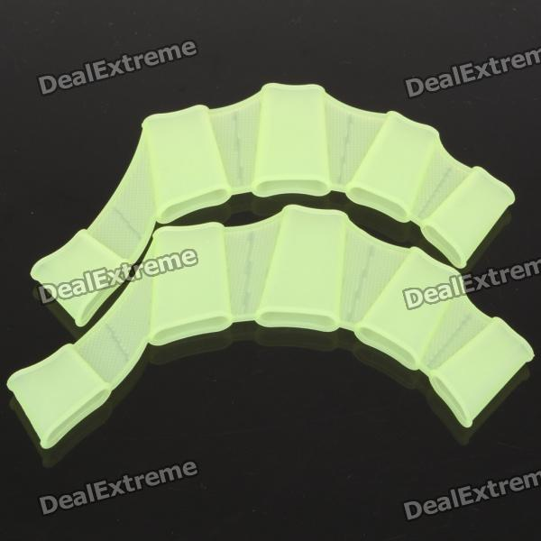 Silicone Swimming Finger Web for Children - Small Size (Green)