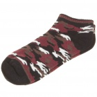 Cotton Socks for Women/Children - Black + Red + White (Pair)