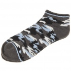 Cotton Socks for Women/Children - Black + Blue + White (Pair)
