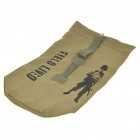 Outdoor Military War Game Multi-Function Canvas Backpack Bag - Army Green