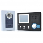 2.4GHz Wireless 300KP CMOS Digital Video Door Phone w/ 6-LED IR Night Vision - Black + Grey