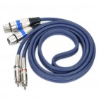 Dual RCA Male to Dual Cannon Female Audio Adapter Cable (152CM-Length)