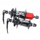 CHOSEN 32H Sealed Bearing Hubs w/ Quick Release Skewers for Mountain Road Bike - Black + Red