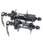 CHOSEN Sealed Bearing 32H Hubs w/ Quick Release Skewers for Mountain Road Bike - Black