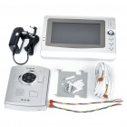 "Wired 7"" TFT LCD Color 300KP CMOS Video Door Phone with 6-LED IR Night Vision"