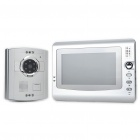 "Com fios de 7 ""LCD TFT colorida 300KP CMOS Telefone video da porta com 6-LED Night Vision IR"