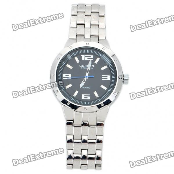 Fashion Stainless Steel Water Resistant Quartz Wrist Watch (LR626) curren 8019 water resistant electroplating tungsten steel quartz wrist watch black 1 x 626