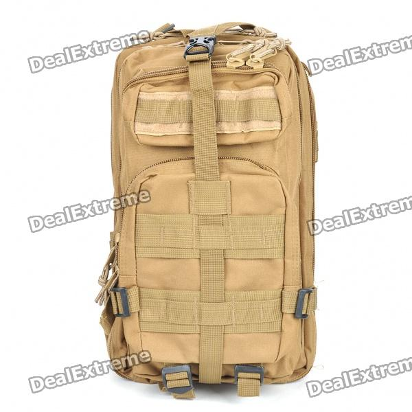 Multi-Function Outdoor Military War Game Oxford Fabric Backpack Bag - Earthy Tan