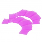 Silicone Swimming Gear Training Webs Gloves- Transparent Purple (Size-L/Pair)