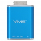 VIVIS Mini Rechargeable 1100mAh External Battery Charger w/ USB Cable for iPhone/iPod - Blue