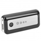 Portable Rechargeable 5600mAh Emergency Power Battery w/ 1-LED White Flashlight/Adapters - Black