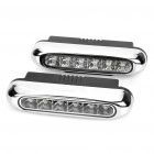 0.6W 6000K 45LM 12-LED White Light Daytime Running Lamps for Car (Pair/DC 12V)