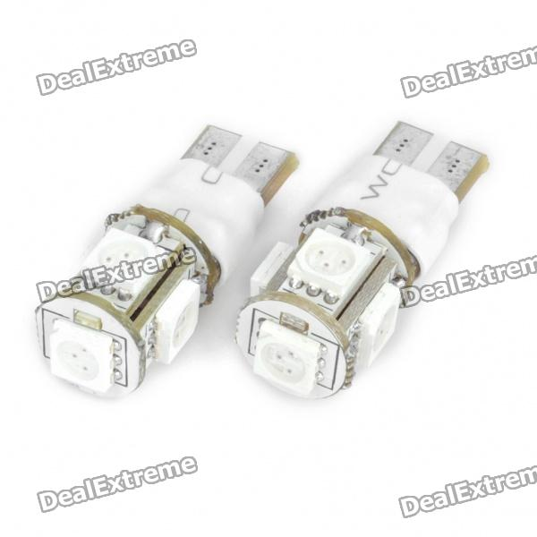 t10-15w-60lm-2-mode-590nm-5x5050-smd-led-2-mode-car-yellow-light-bulbs-pair12v