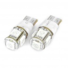T10 1.5W 60LM 2-Mode 590nm 5x5050 SMD LED 2-Mode Car Yellow Light Bulbs (Pair/12V)