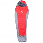 Basecamp Warm Mummy Sleeping Bag - Grey + Red