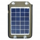 5W Auto Car Portable Solar Power Panel Charger with 5 Cell Phone Adapters/Carrying Bag