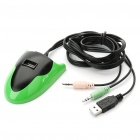 Multi-Function 3-Port USB 2.0 HUB with 3.5mm Audio Input & Output - Random Color