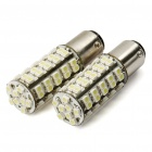 1142 3.5W 6500K 275-Lumen 68x3528 SMD LED White Light Bulbs for Car - Pair (12V)