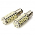1142 6.12W 6500K 408-Lumen 102x3528 SMD LED White Light Bulbs for Car - Pair (12V)