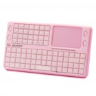 Mini Wireless 2.4GHz Rechargeable Integrated Keyboard w/ Touch Pad Mouse - Pink