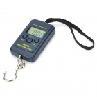 "1.4"" LCD Portable Digital Electronic Weighting Hook Scale - Black (40kg Max/10g Resolution/2xAAA)"