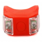 3-Mode 2-LED Red Light Tie-On Bike Light Keychains - Red (Pair / 2 x CR2032)