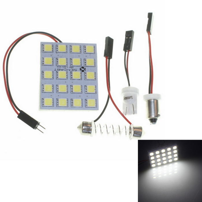 SV85 3.6W 240LM 6500K 20-LED White Car Door/Dome/Reading Lamp (12V)