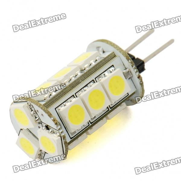 G4 3W 6500K 180-Lumen 15x5050 SMD LED White Light Bulb (12V) lx 3w 250lm 6500k white light 5050 smd led car reading lamp w lens electrodeless input 12 13 6v